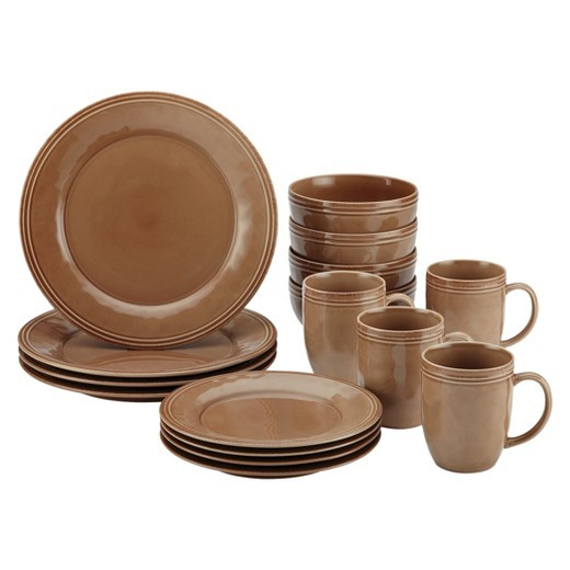 Target Dinner Sets  Rachael Ray Cucina 16pc Dinnerware Set Brown Tar