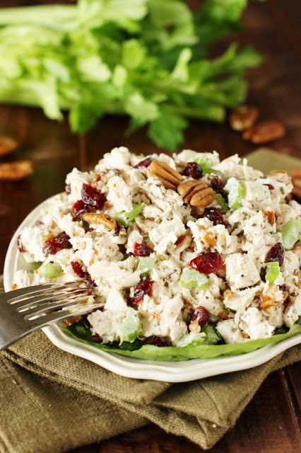 Tarragon Chicken Salad  Greek Yogurt Chicken Salad with Apples & Pecans
