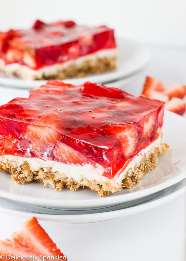 Taste Of Home Strawberry Pretzel Dessert  Strawberry pretzel Pretzels and Strawberries on Pinterest