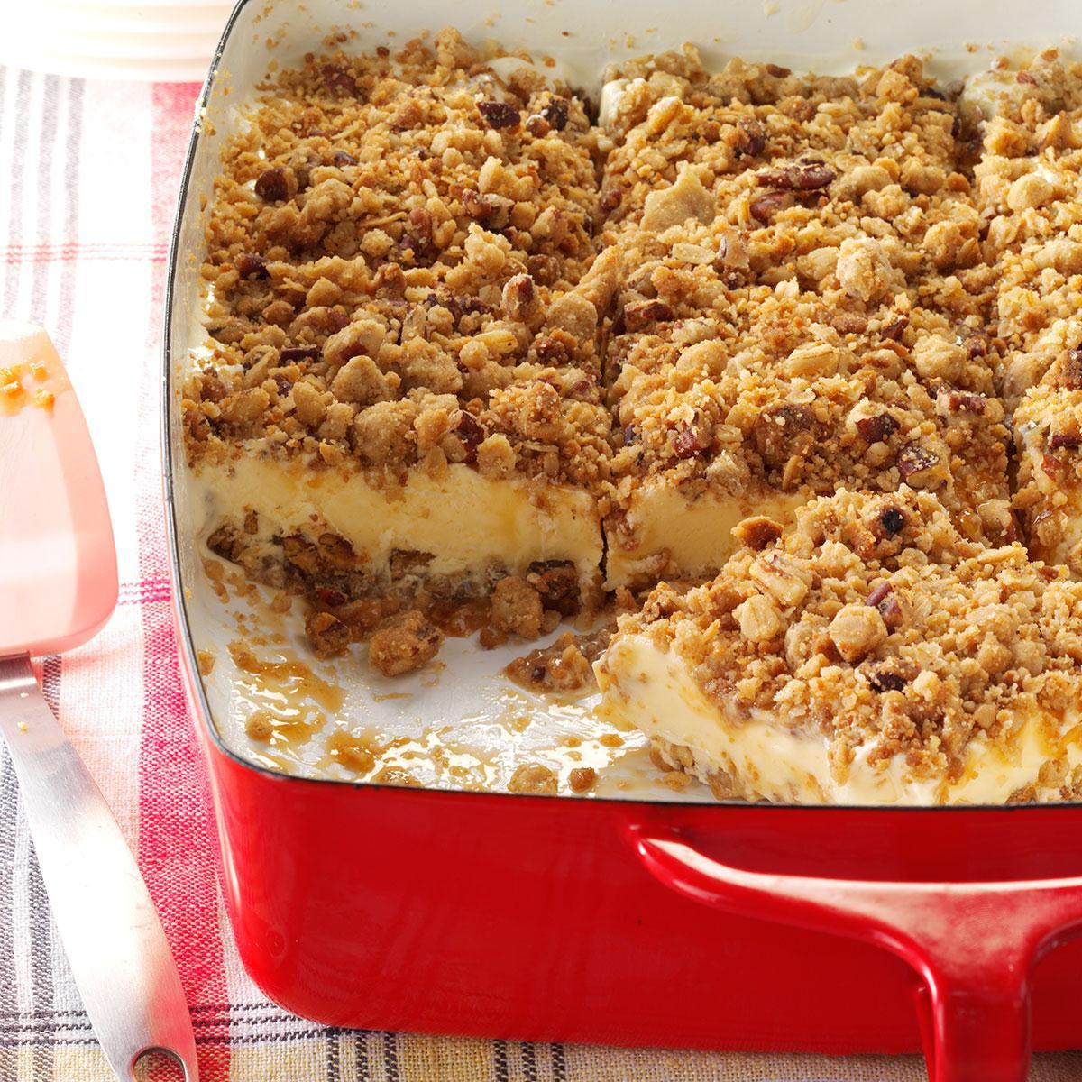 Taste Of Homes Desserts  Caramel Pecan Ice Cream Dessert Recipe