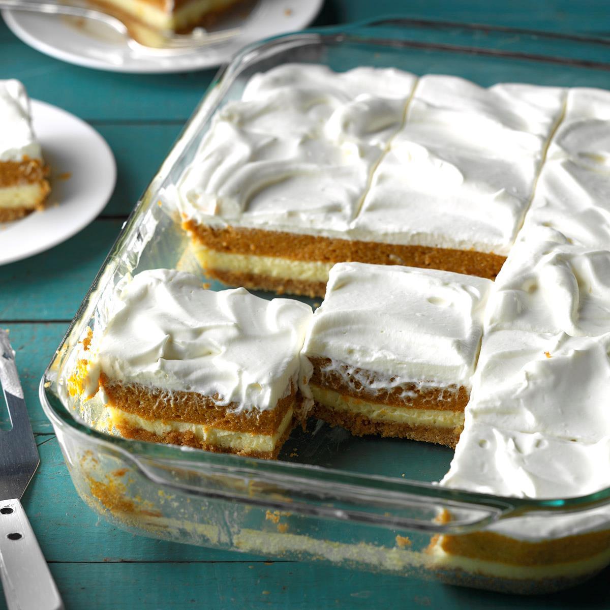 Taste Of Homes Desserts  Layered Pumpkin Dessert Recipe