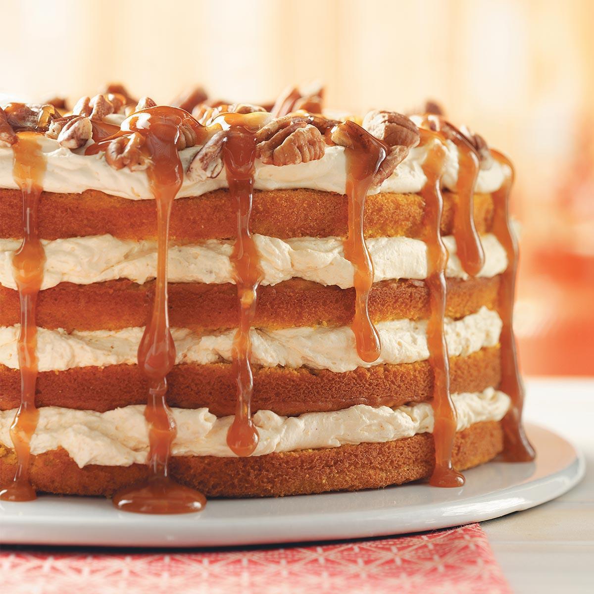 Taste Of Homes Desserts  Pumpkin Torte Recipe