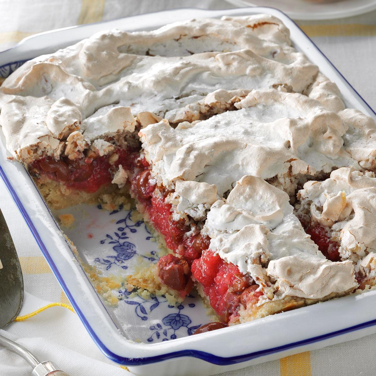 Taste Of Homes Desserts  Tart Cherry Meringue Dessert Recipe