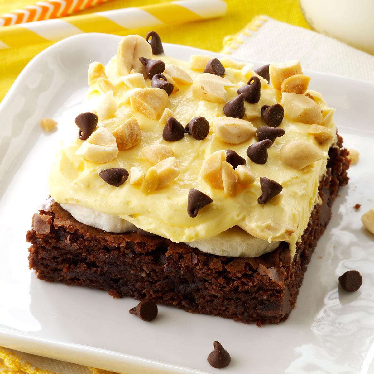 Taste Of Homes Desserts  Banana Cream Brownie Dessert Recipe