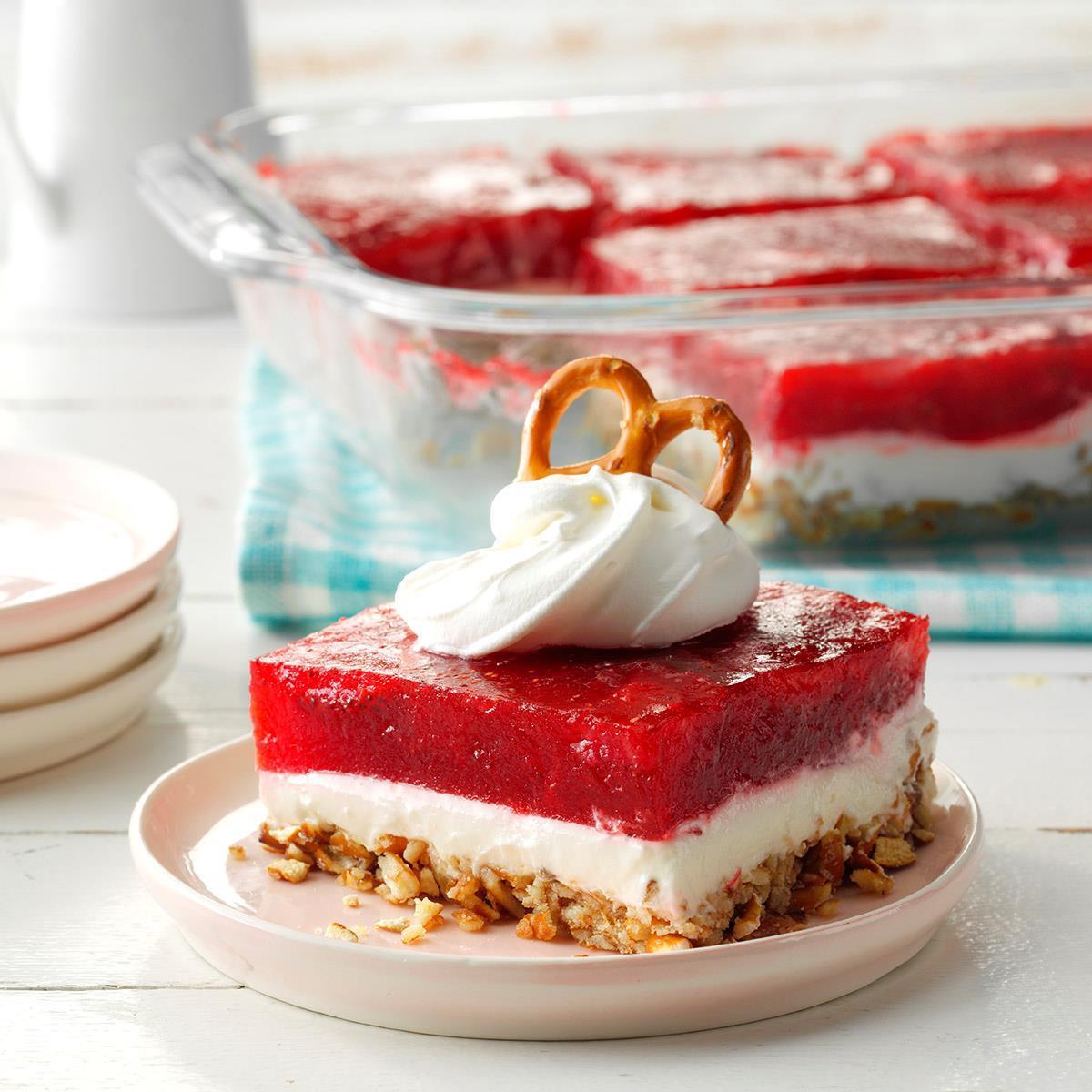 Taste Of Homes Desserts  Strawberry Pretzel Dessert Recipe