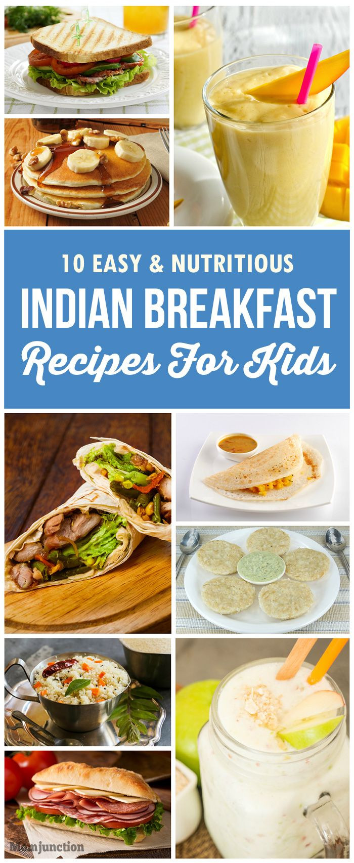 Tasty Breakfast Recipes  100 Indian Recipes For Kids on Pinterest