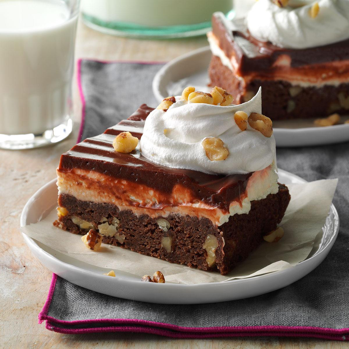 Tasty Dessert Recipes  Layered Brownie Dessert Recipe