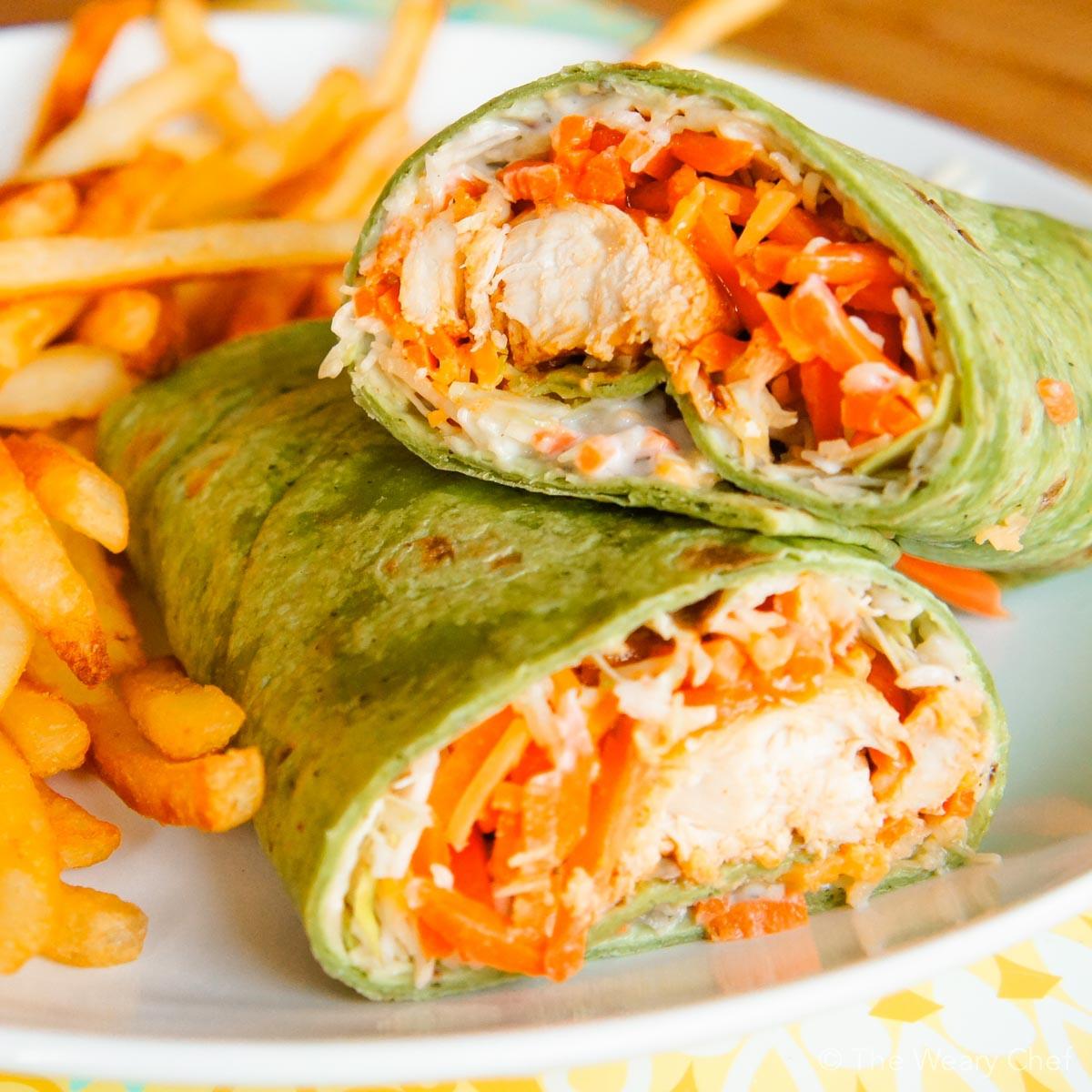 Tasty Dinner Recipes  Buffalo Chicken Wraps A fun and tasty dinner idea The