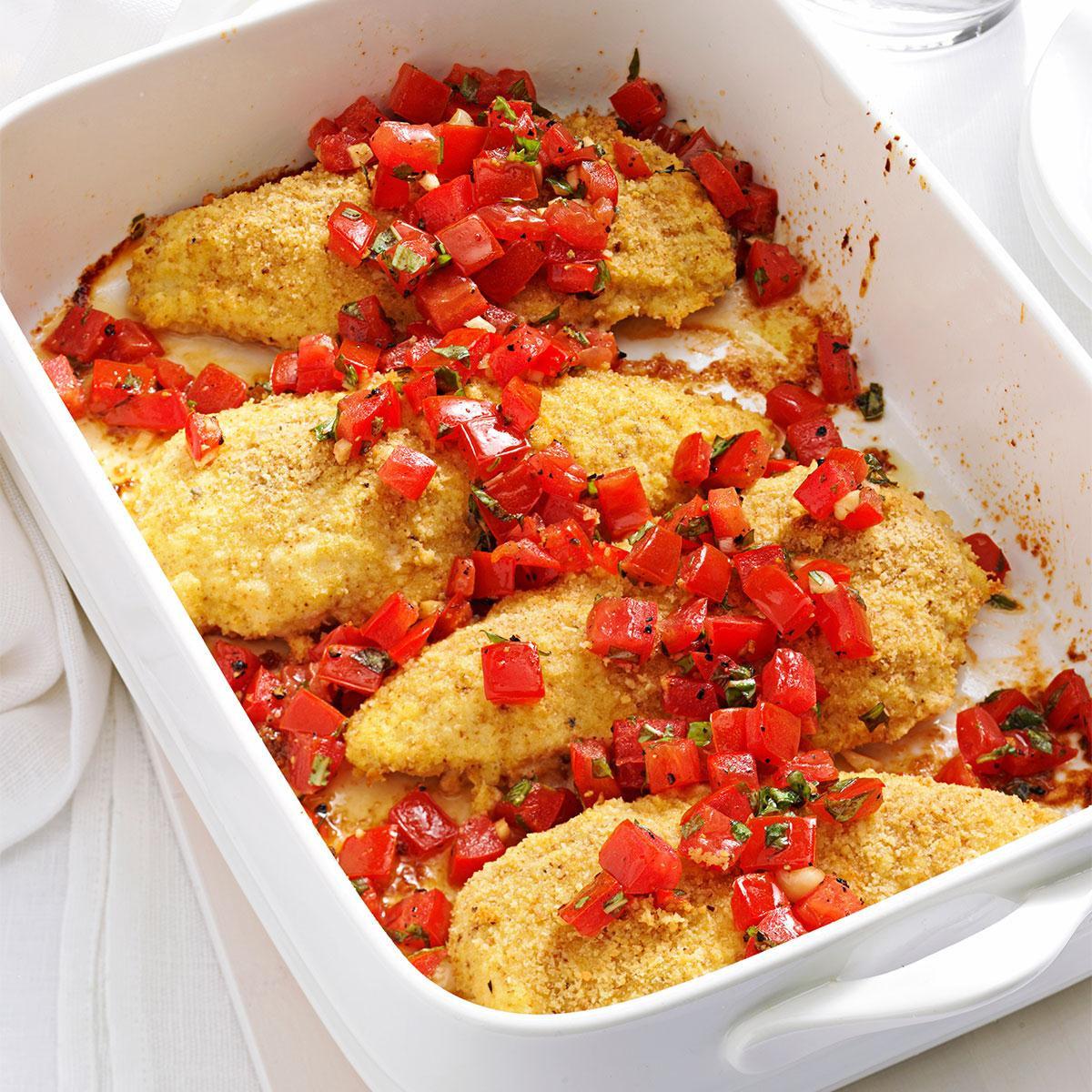 Tasty Dinner Recipes  Bruschetta Chicken Recipe