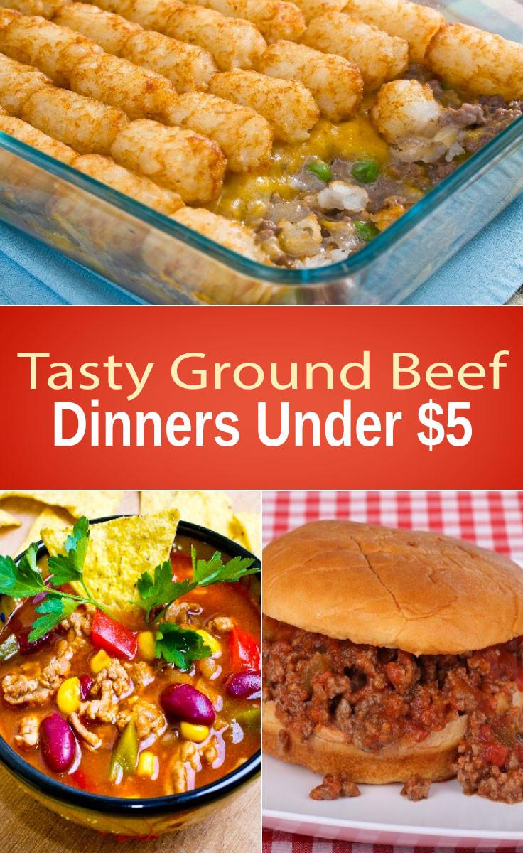 Tasty Dinner Recipes  Tasty Ground Beef Dinners Under $5