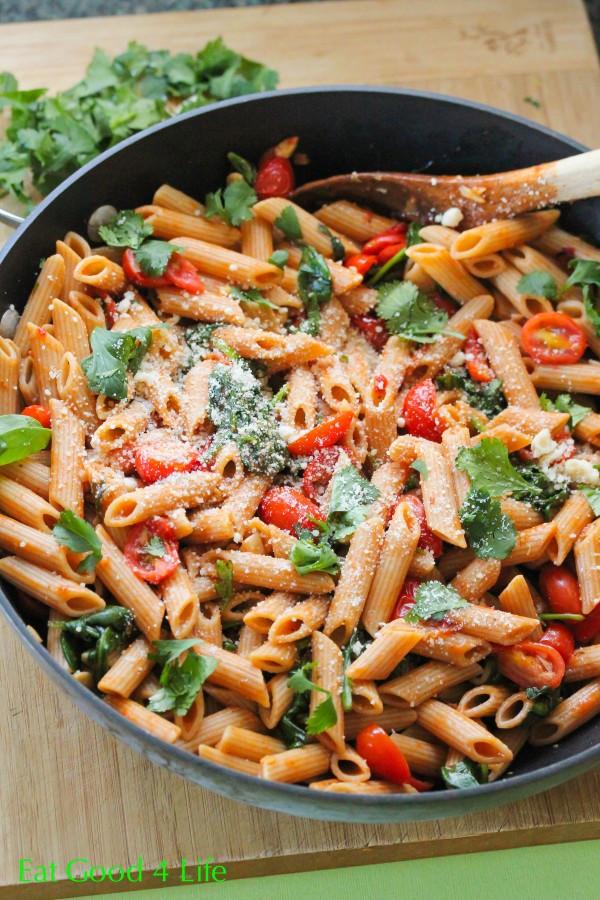 Tasty Dinner Recipes  Fire roasted tomato pasta