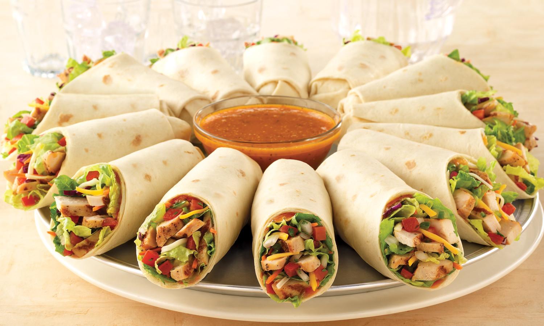 Tasty Healthy Snacks  chicken tortilla wraps