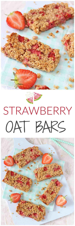 Tasty Healthy Snacks  Strawberry Oat Bars My Fussy Eater