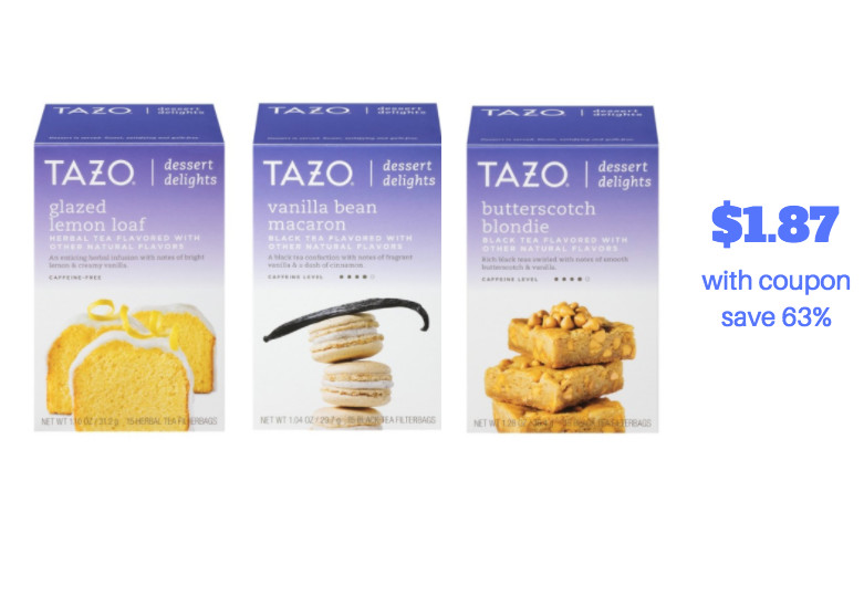 Tazo Dessert Delights  Tazo Tea Dessert Delights Just $1 87 at Safeway With New