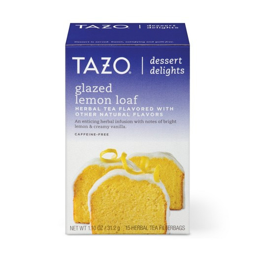 Tazo Tea Dessert Delights  Tazo Glazed Lemon Loaf Dessert Delights Tea Bags 15ct