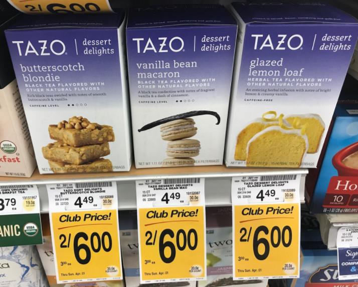 Tazo Tea Dessert Delights  Tazo Tea Coupon Pay $2 00 for Dessert Delights Tea