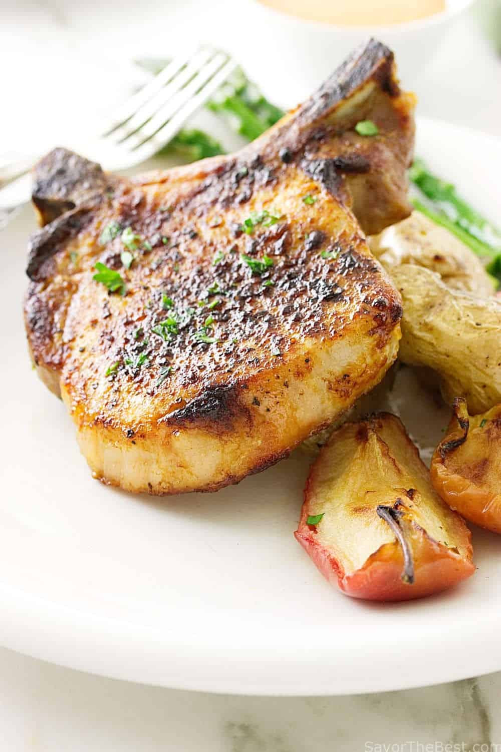 Tender Pork Chops  Chipotle Pork Chop Sheet Pan Dinner Savor the Best