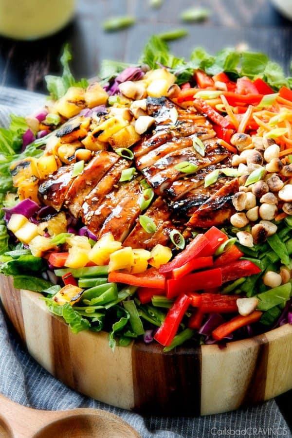 Teriyaki Chicken Salad  Teriyaki Chicken Salad with Pineapple Sesame Dressing