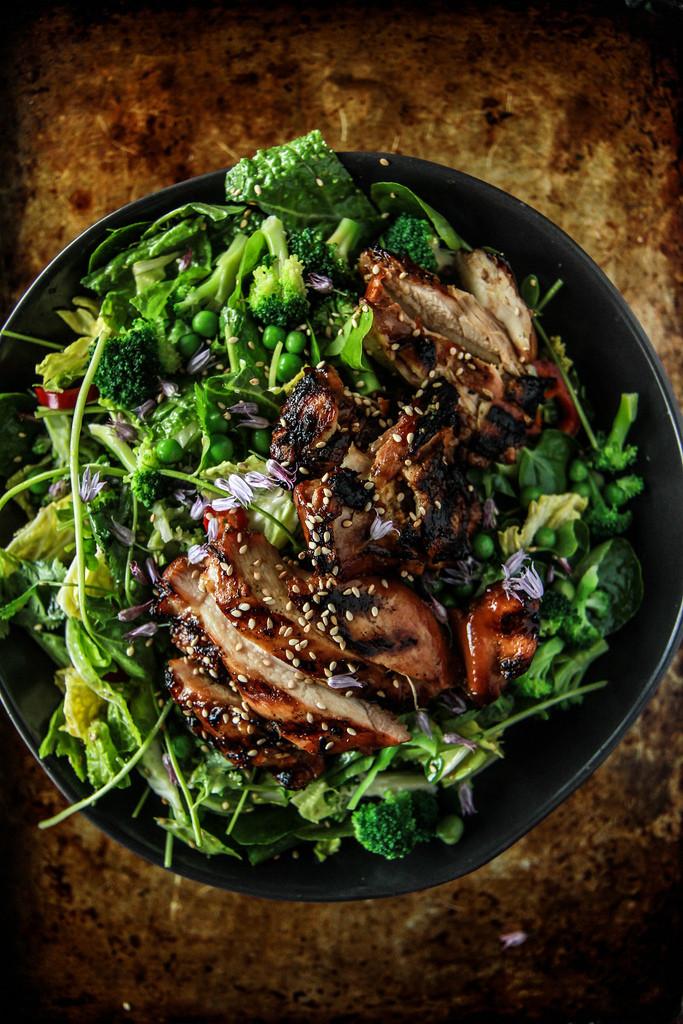 Teriyaki Chicken Salad  Teriyaki Chicken Salad Heather Christo