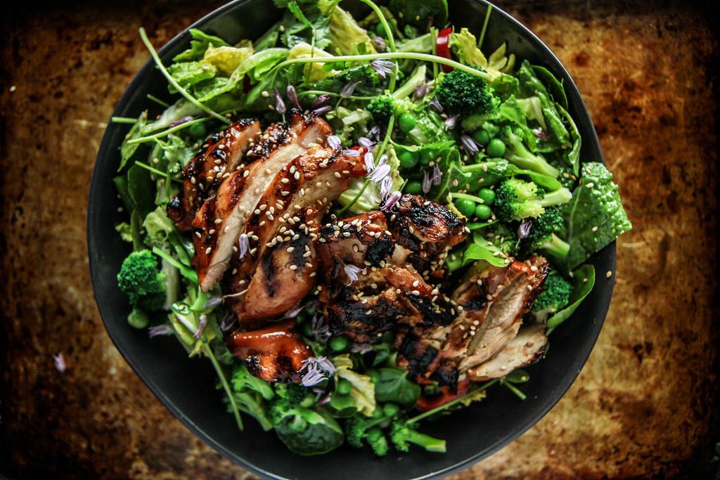 Teriyaki Chicken Salad  Teriyaki Chicken Salad