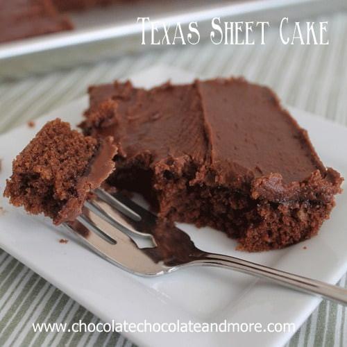 Texas Chocolate Sheet Cake  Texas Sheet Cake Chocolate Chocolate and More