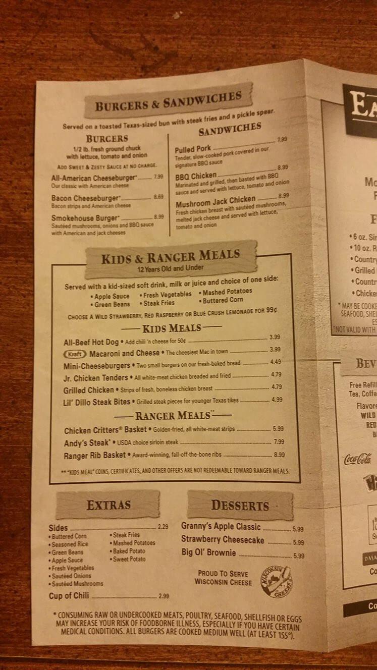 Texas Roadhouse Dessert Menu  Texas Roadhouse Menu Prices