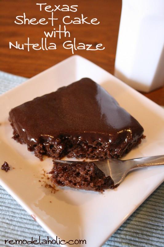 Texas Sheet Cake Frosting  Texas Sheet Cake With Nutella Glaze Frosting Recipe