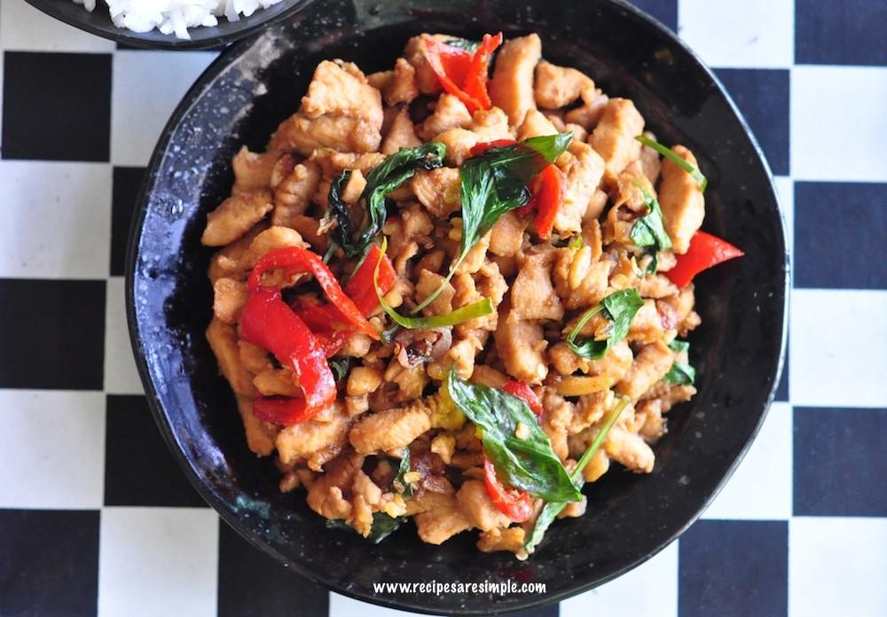 Thai Basil Recipes  Thai basil chicken recipe Pad Kra Pao Gai Make it