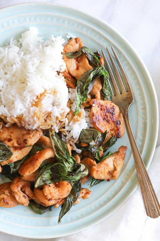 Thai Basil Recipes  thai basil chicken recipe cooks illustrated