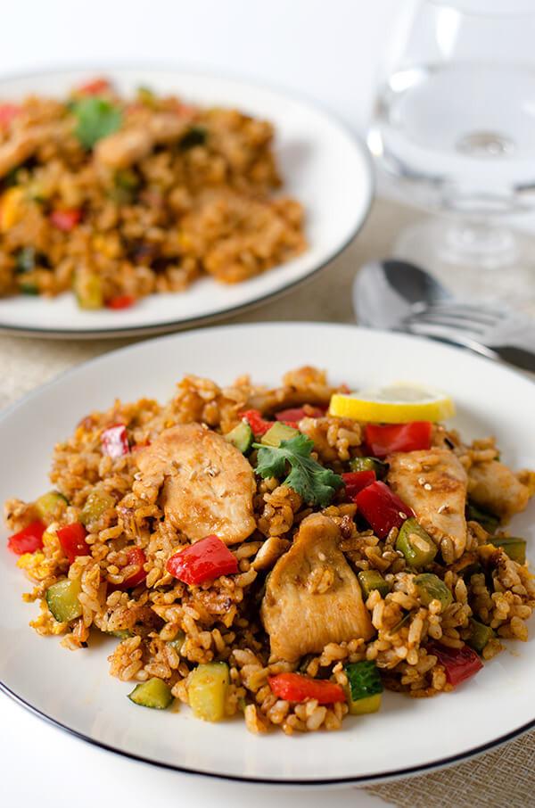 Thai Chicken Fried Rice  Thai Curry Chicken Fried Rice