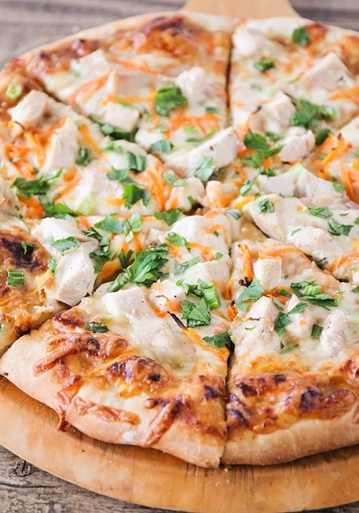 Thai Chicken Pizza  Easy Thai Chicken Pizza Recipe Somewhat Simple