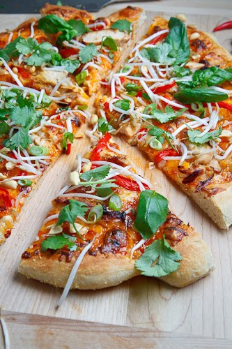 Thai Chicken Pizza  Thai Chicken Pizza with Sweet Chili Sauce on Closet Cooking