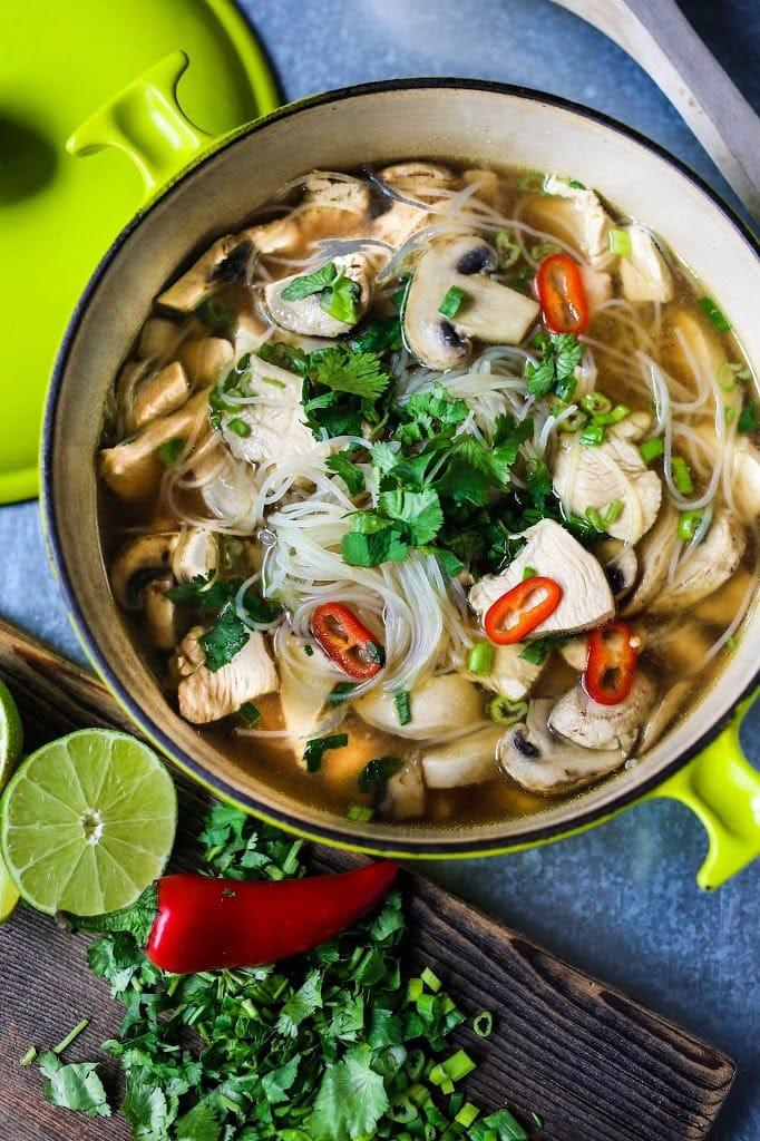 Thai Chicken Soup Recipe  authentic thai chicken noodle soup recipe