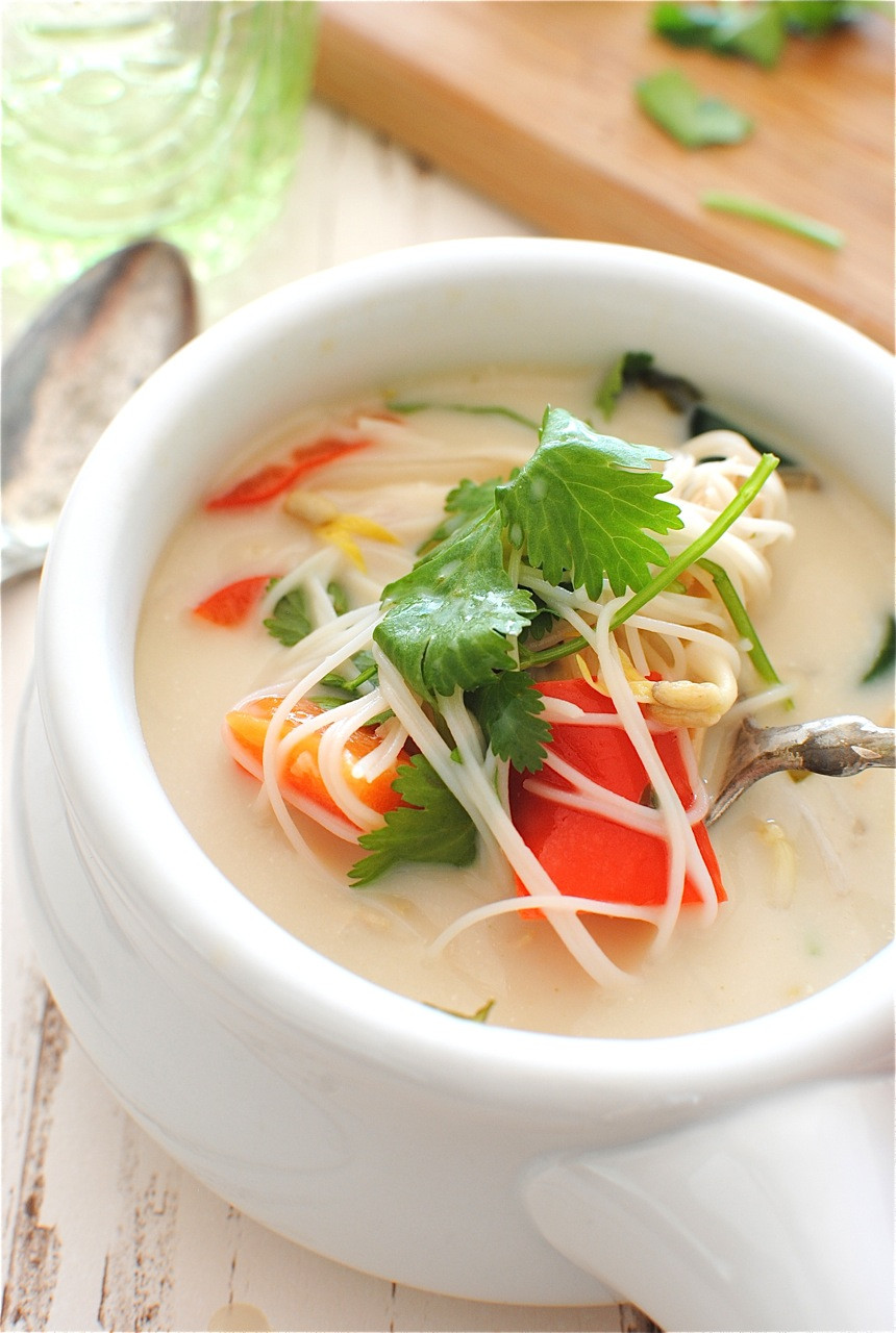 Thai Chicken Soup Recipe  Slow Cooker Thai Chicken Noodle Soup