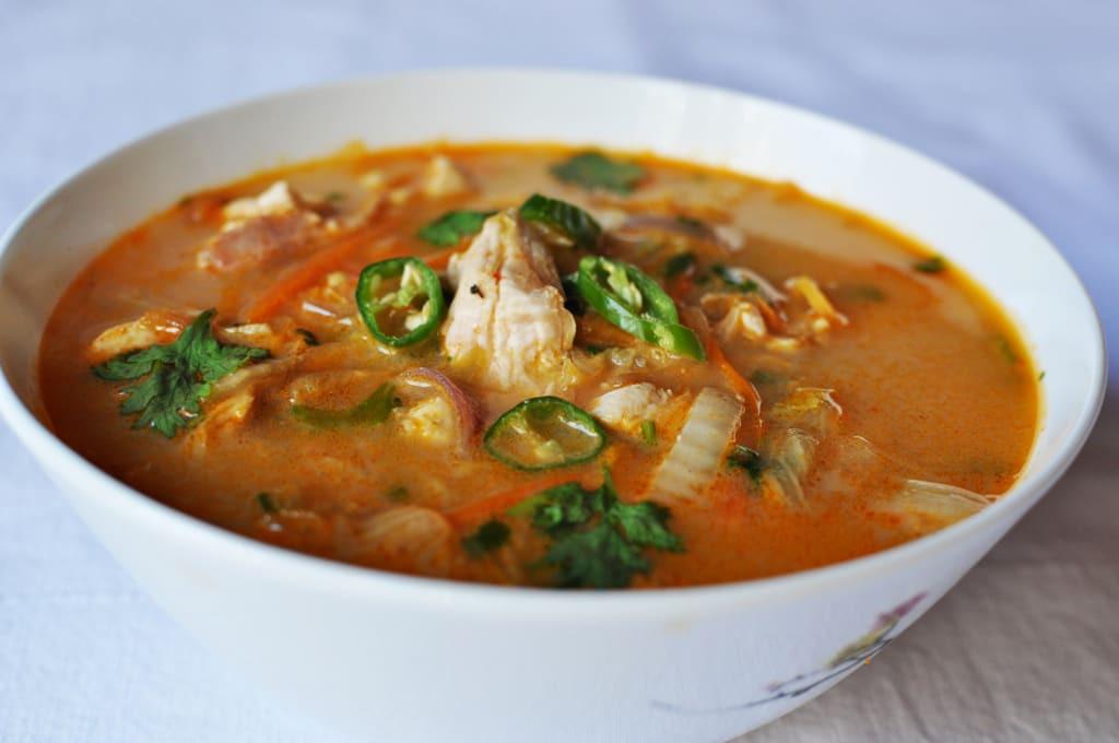Thai Chicken Soup Recipe  Spicy Thai Chicken Soup Recipe