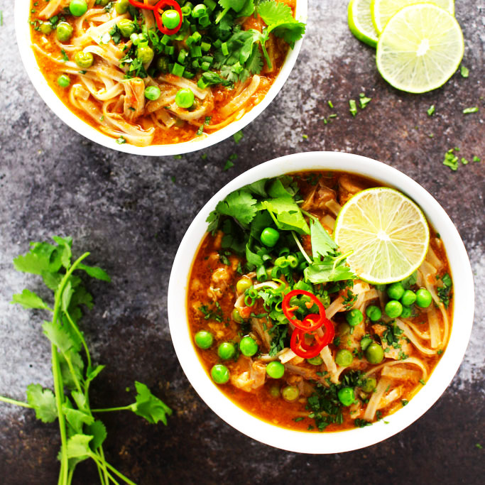 Thai Chicken Soup Recipe  authentic thai chicken noodle soup recipe