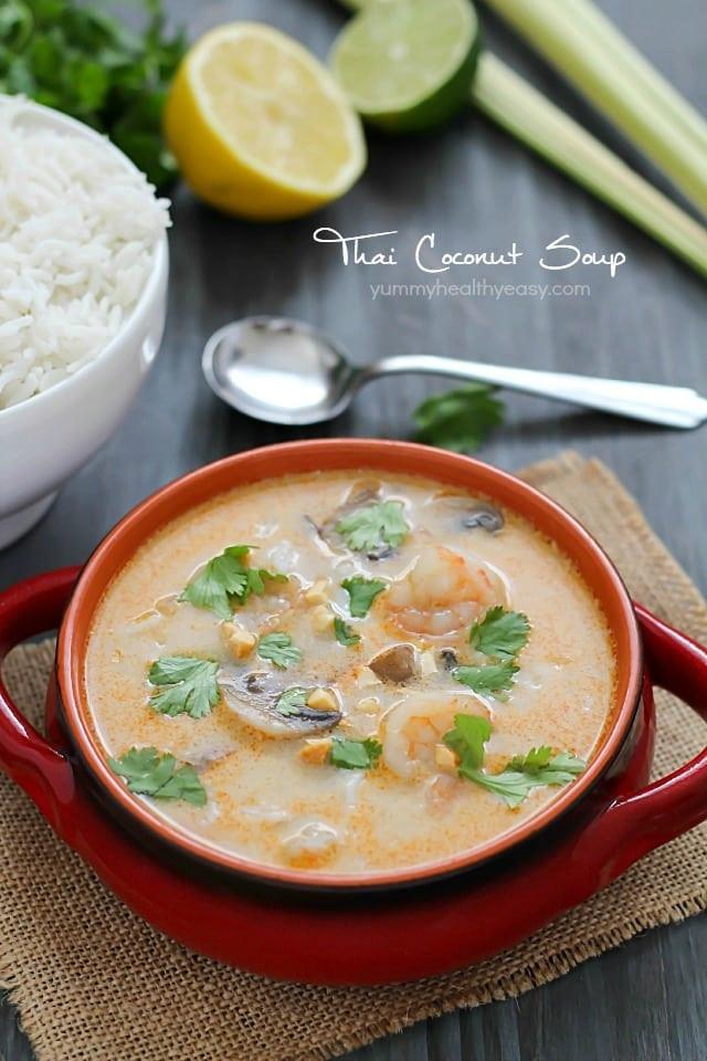 Thai Coconut Soup Recipes  thai coconut shrimp soup