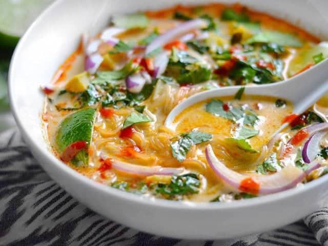 Thai Coconut Soup Recipes  Thai Curry Ve able Soup Bud Bytes
