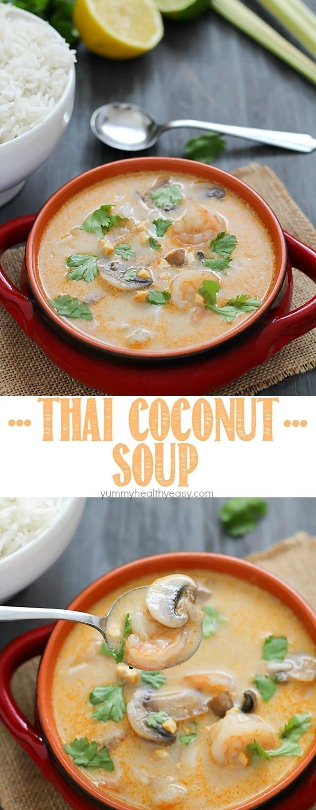 Thai Coconut Soup Recipes  Thai Coconut Soup Yummy Healthy Easy
