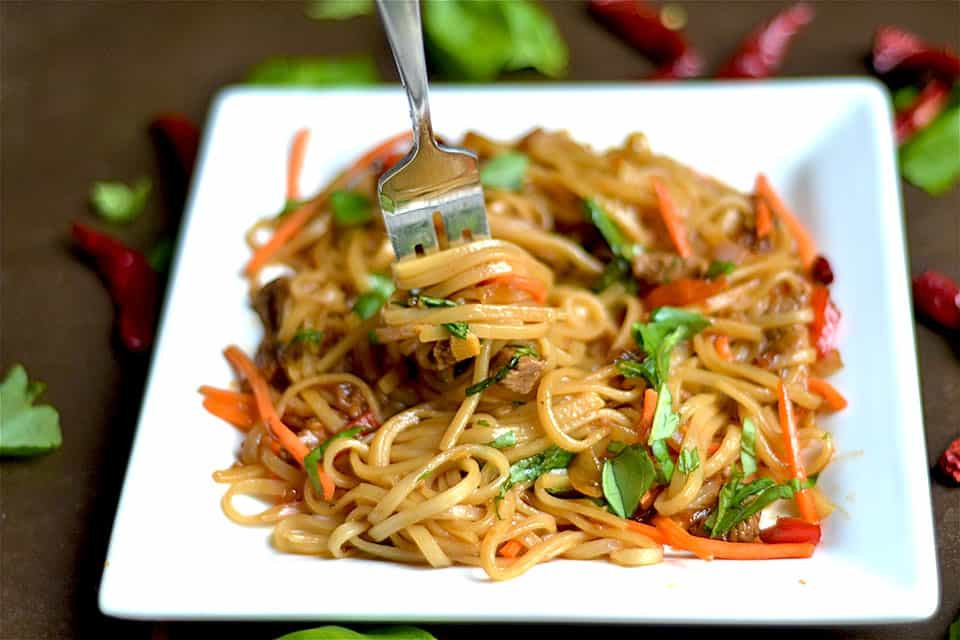 Thai Drunken Noodles  Thai Beef Drunken Noodles Wholesomelicious