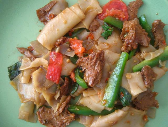 Thai Drunken Noodles  raspberry eggplant Drunken Noodles Pad Kee Mao