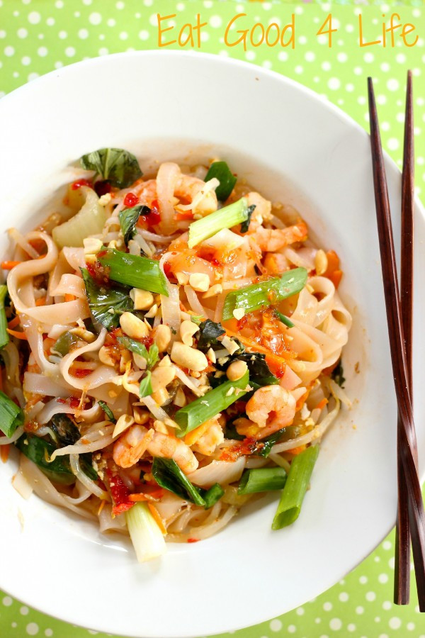 Thai Drunken Noodles  Drunken noodles with shrimp