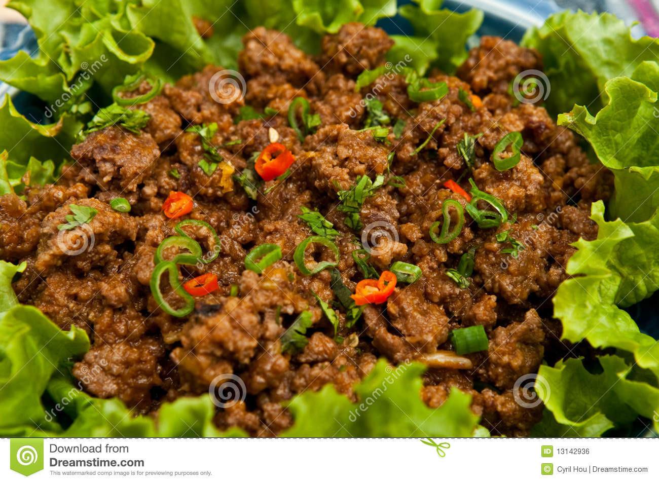 Thai Ground Beef  Thai style Ground Beef Royalty Free Stock Image Image