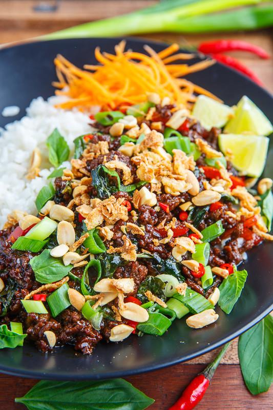 Thai Ground Beef  20 Minute Thai Basil Beef Recipe on Closet Cooking