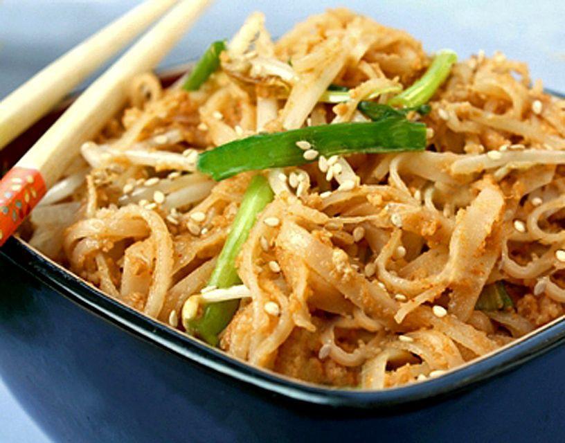 Thai Rice Noodles  Gluten Free Thai Peanut Noodles Recipe