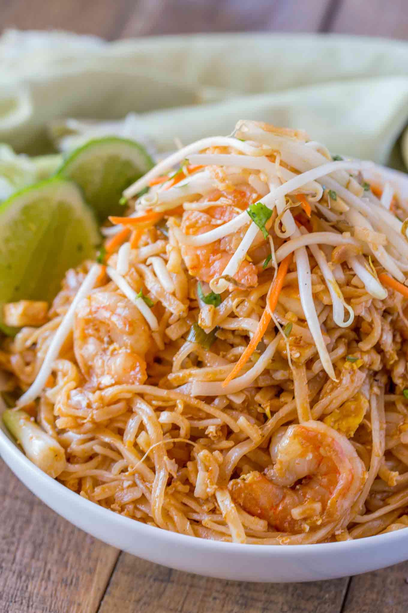 Thai Rice Noodles  Easy Pad Thai Dinner then Dessert