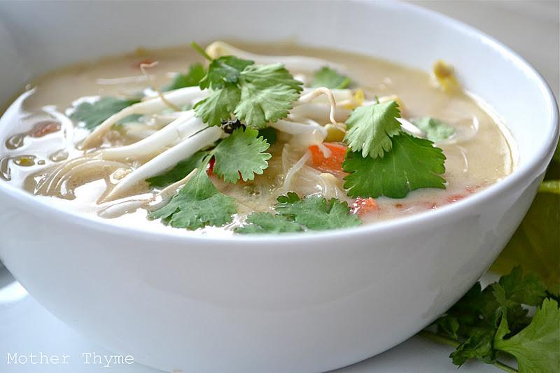 Thai Rice Noodles  Slow Cooker Thai Chicken Noodle Soup