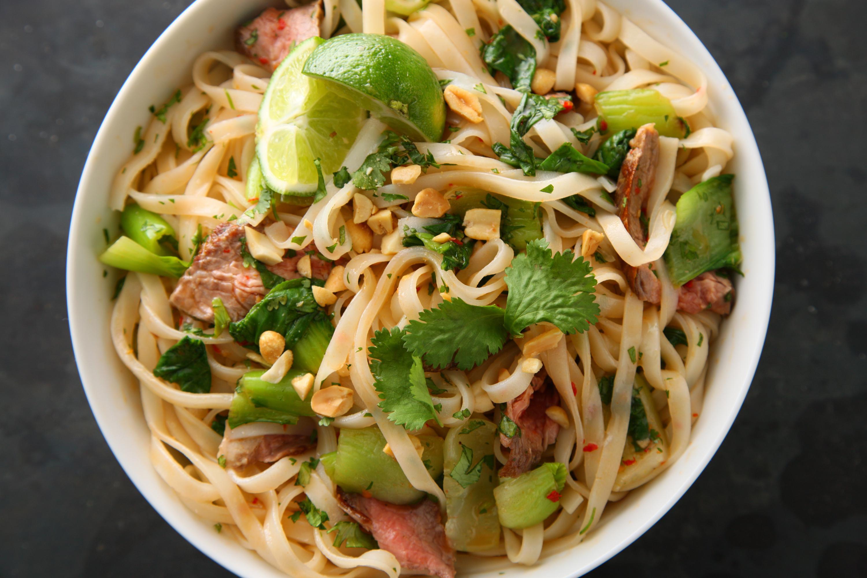 Thai Rice Noodles  steak rice noodles