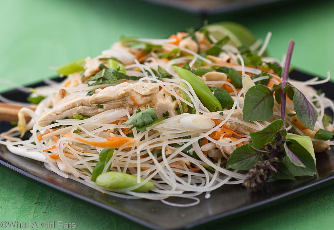 Thai Rice Noodles  Thai Rice Noodle Salad What A Girl Eats