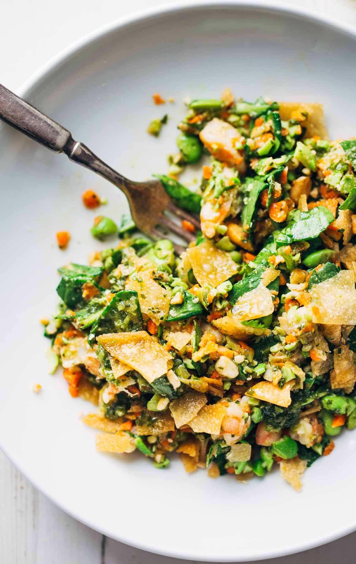 Thai Shrimp Salad  Chopped Thai Shrimp Salad with Garlic Lime Dressing Recipe